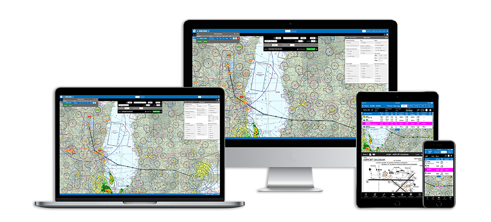 iFlightPlanner on Desktop, iPad and iPhone