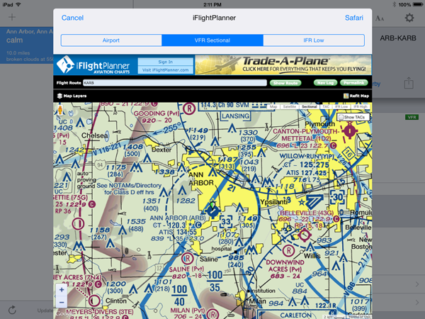 Vfr Weather Map.Aeroweather Now Featuring Iflightplanner Airports Vfr Ifr Charts
